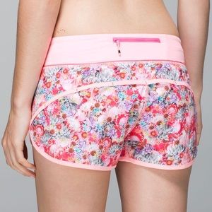 Lululemon Athletica • Pink Floral Speed Shorts